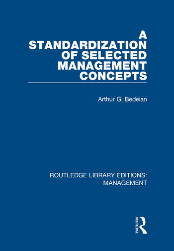 A Standardization of Selected Management Concepts book cover