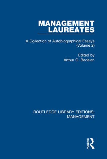 Management Laureates A Collection of Autobiographical Essays (Volume 2) book cover