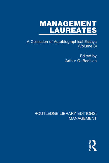 Management Laureates A Collection of Autobiographical Essays (Volume 3) book cover