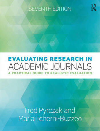 Evaluating Research in Academic Journals A Practical Guide to Realistic Evaluation book cover