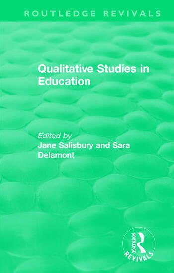Qualitative Studies in Education (1995) book cover