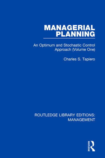 Managerial Planning An Optimum and Stochastic Control Approach (Volume 1) book cover