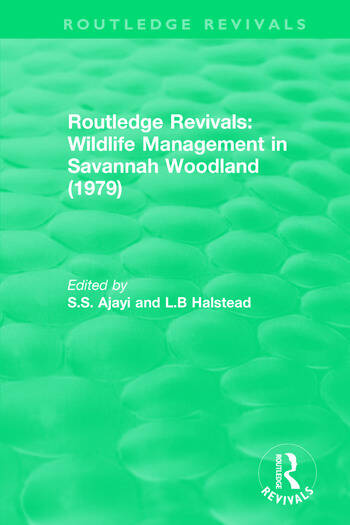 Routledge Revivals: Wildlife Management in Savannah Woodland (1979) book cover