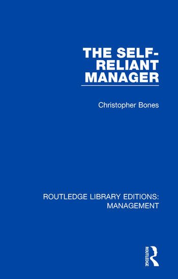 The Self-Reliant Manager book cover