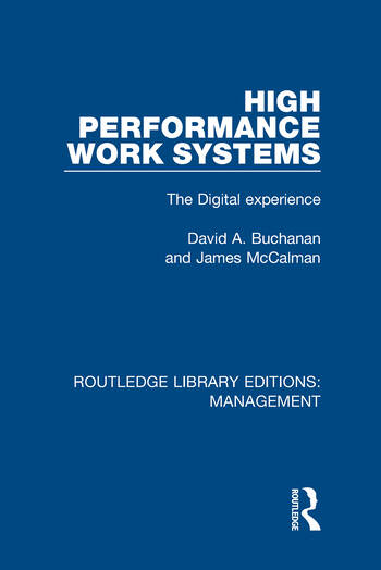 High Performance Work Systems The Digital Experience book cover