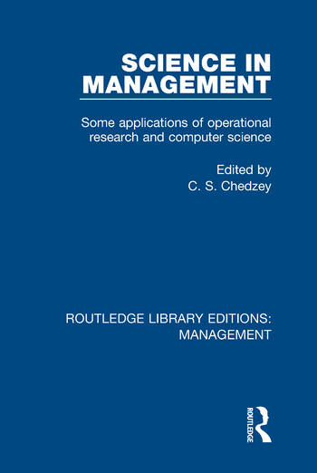 Science in Management Some Applications of Operational Research and Computer Science book cover