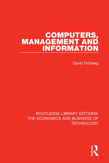 Computers, Management and Information book cover