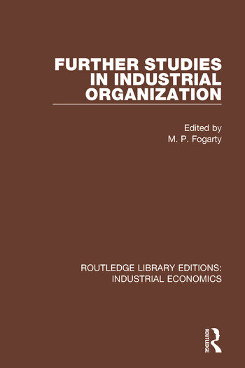 Further Studies in Industrial Organization book cover