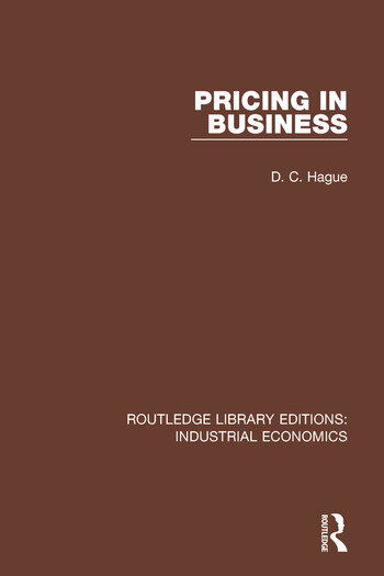 Pricing in Business book cover