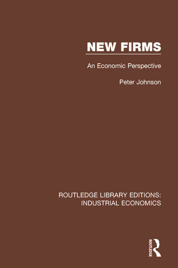New Firms An Economic Perspective book cover