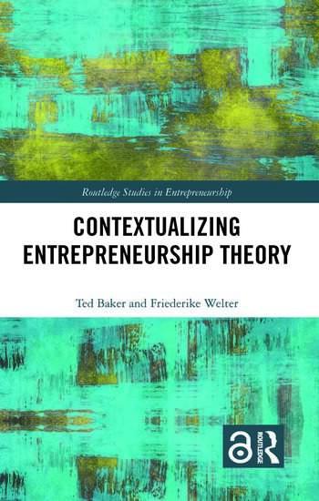 Contextualizing Entrepreneurship Theory book cover