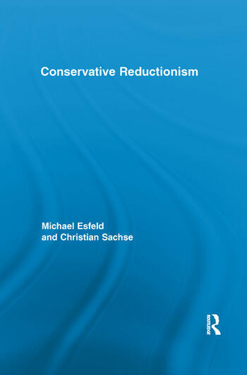 Conservative Reductionism book cover
