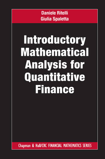 Introductory Mathematical Analysis for Quantitative Finance book cover