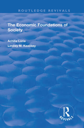 Economic Foundations of Society book cover