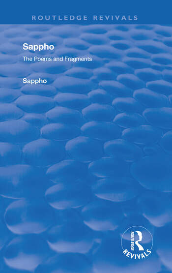 Revival: Sappho - Poems and Fragments (1926) book cover