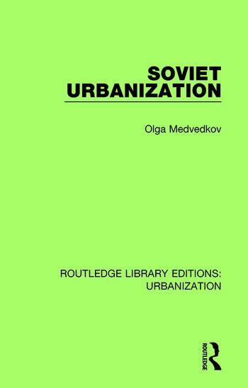 Soviet Urbanization book cover