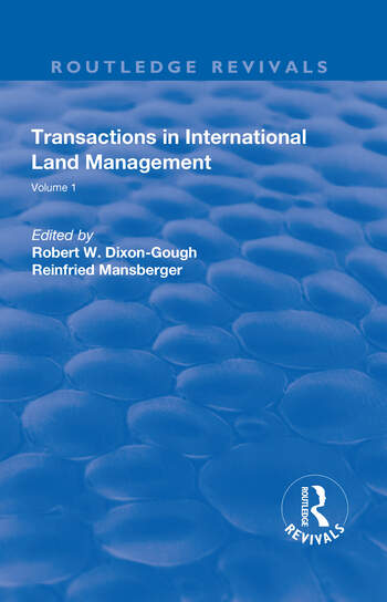 Transactions in International Land Management Volume 1 book cover