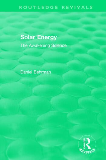 Routledge Revivals: Solar Energy (1979) The Awakening Science book cover