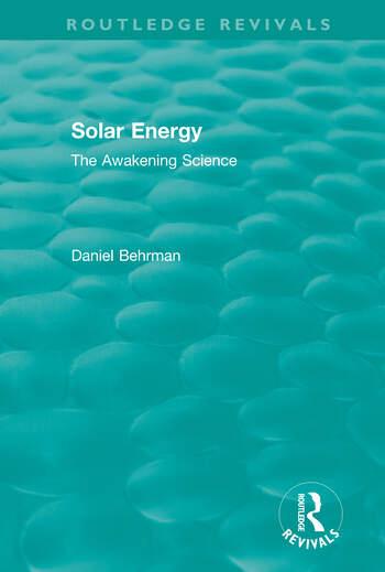 Routledge Revivals: Solar Energy (1979) book cover