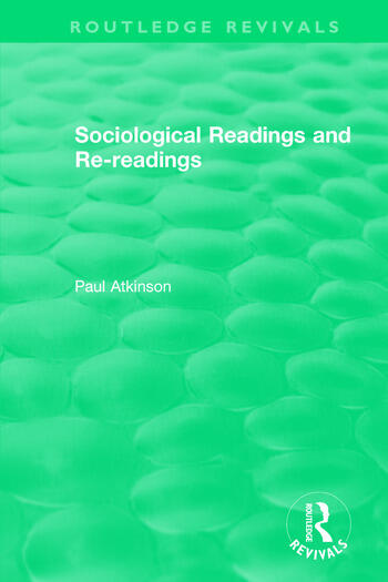 Sociological Readings and Re-readings (1996) book cover