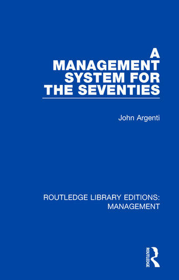 A Management System for the Seventies book cover