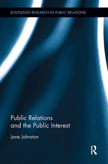 Public Relations and the Public Interest book cover