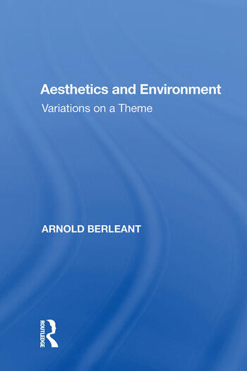 Aesthetics and Environment Variations on a Theme book cover