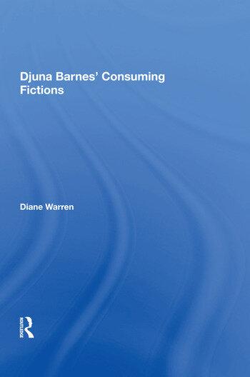 Djuna Barnes' Consuming Fictions book cover