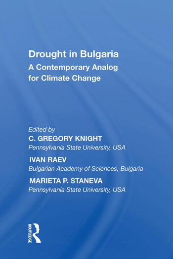Drought in Bulgaria A Contemporary Analog for Climate Change book cover