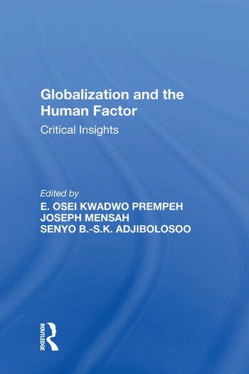 Globalization and the Human Factor Critical Insights book cover