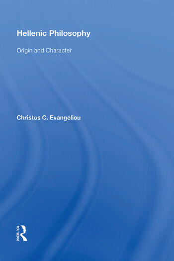 Hellenic Philosophy Origin and Character book cover