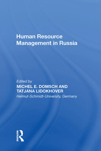 Human Resource Management in Russia book cover