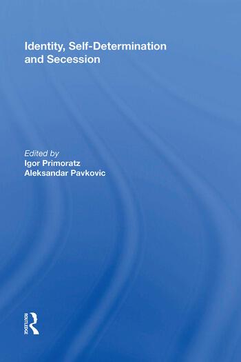 Identity, Self-Determination and Secession book cover