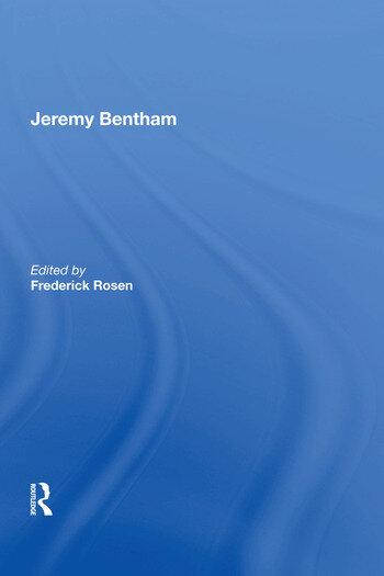 Jeremy Bentham book cover