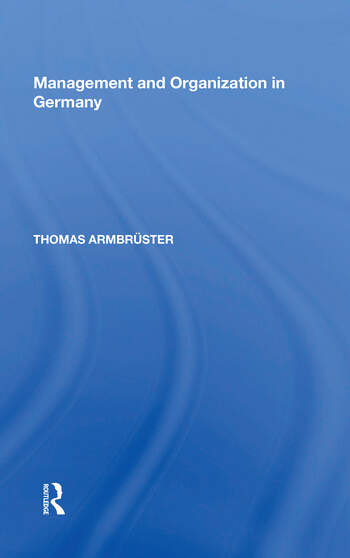 Management and Organization in Germany book cover