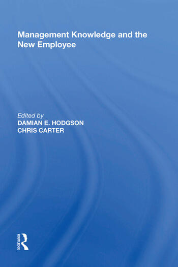 Management Knowledge and the New Employee book cover