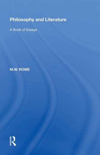 Philosophy and Literature A Book of Essays book cover