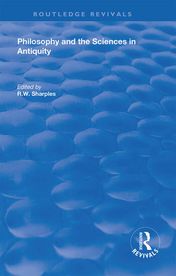 Philosophy and the Sciences in Antiquity book cover