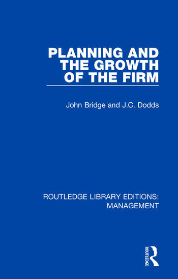 Planning and the Growth of the Firm book cover