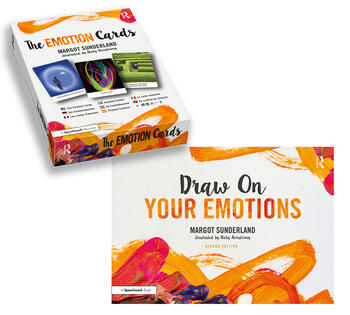 Draw On Your Emotions book and The Emotion Cards book cover
