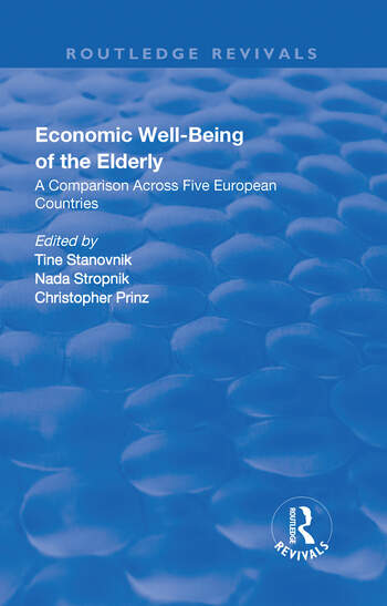 Economic Well-Being of the Elderly A Comparison Across Five European Countries book cover