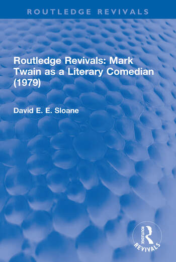 Routledge Revivals: Mark Twain as a Literary Comedian (1979) book cover