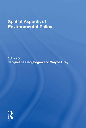 Spatial Aspects of Environmental Policy book cover