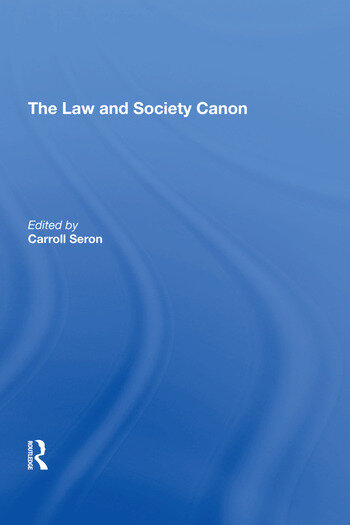 The Law and Society Canon book cover