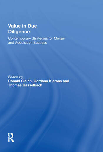 Value in Due Diligence Contemporary Strategies for Merger and Acquisition Success book cover