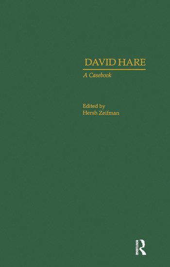 David Hare A Casebook book cover
