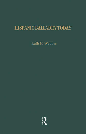 Hispanic Balladry Today book cover