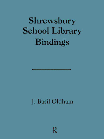 Shrewsbury School Library book cover