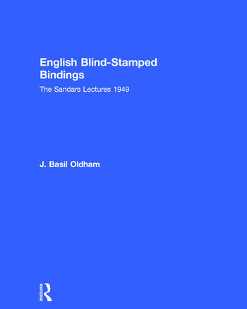 English Blind Stamped book cover