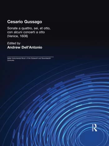 Cesario Gussago. Sonate a quattro, sei, et otti book cover